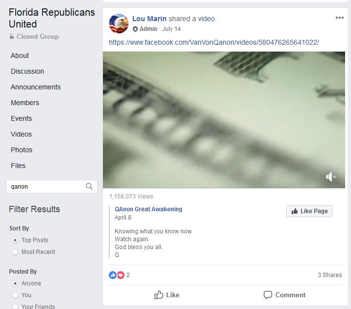 Orange County GOP Vice Chair posted Parkland, QAnon