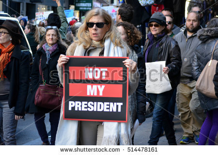 cf7a281f855 A woman from a Shuttershock photo of an anti-Trump protest in New York City  was falsely attributed as Ford.  1