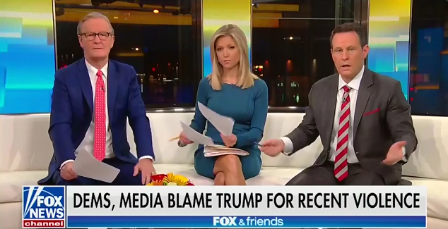 """Brian Kilmeade: """"To think that the president could somehow be linked to"""" the Pittsburgh synagogue shooting, """"you have to suspend disbelief"""""""