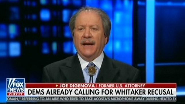 Fox regular Joe diGenova says he has been advising Donald Trump on whom he should pick for attorney general