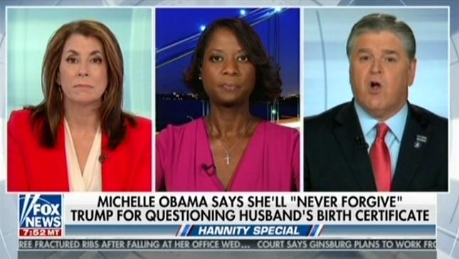 Sean Hannity attacks Michelle Obama because she criticized Trump's