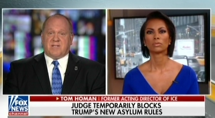 mediamatters.org - Fox contributor Thomas Homan 'absolutely' supports detaining asylum seekers in tent cities