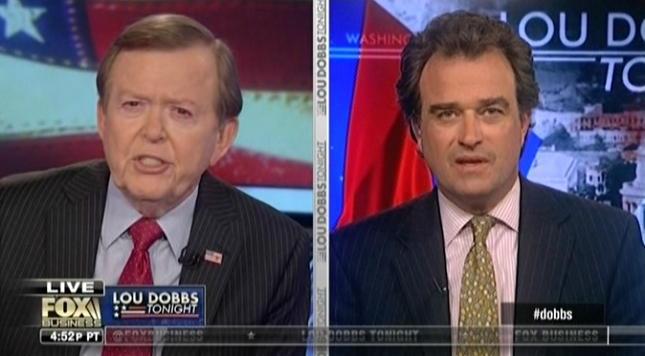 """Lou Dobbs calls climate change a United Nations plot """"to take over the world"""""""