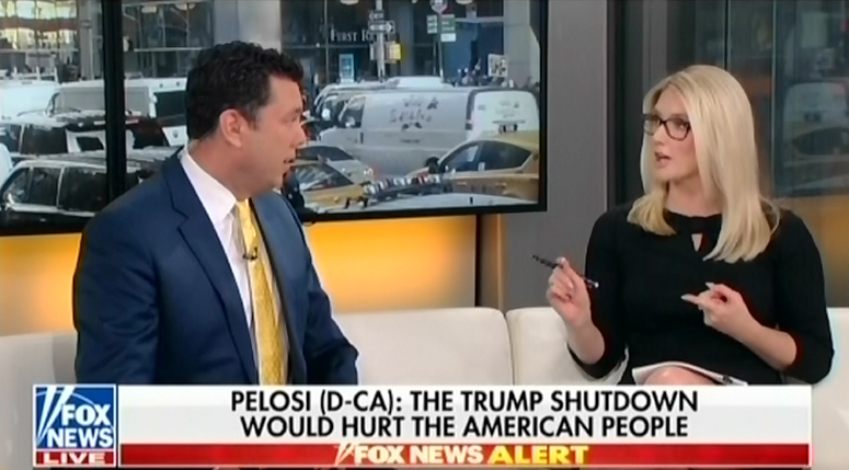 "Marie Harf shuts down fellow Fox contributor Jason Chaffetz for pushing ""a conspiracy theory"" about the migrant caravan"