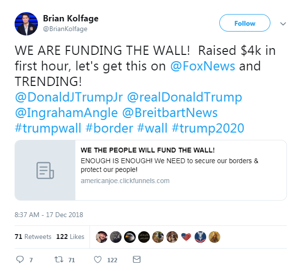 The guy behind the GoFundMe account for Trump's border wall used a