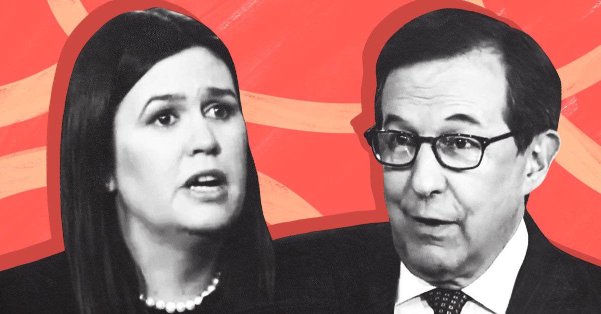 Guess which cable news network isn't talking about Chris Wallace's interview with Sarah Huckabee Sanders?