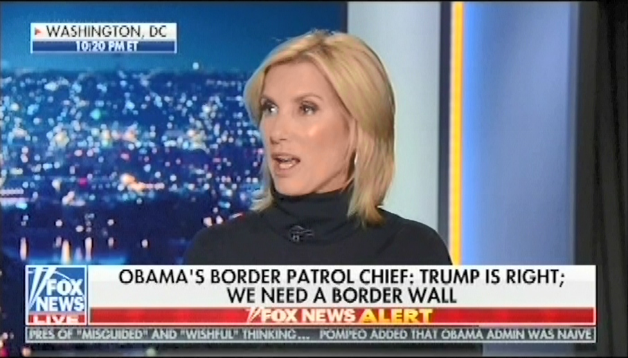 photo image Laura Ingraham claims Democrats oppose border wall because they are using undocumented immigrants to win elections