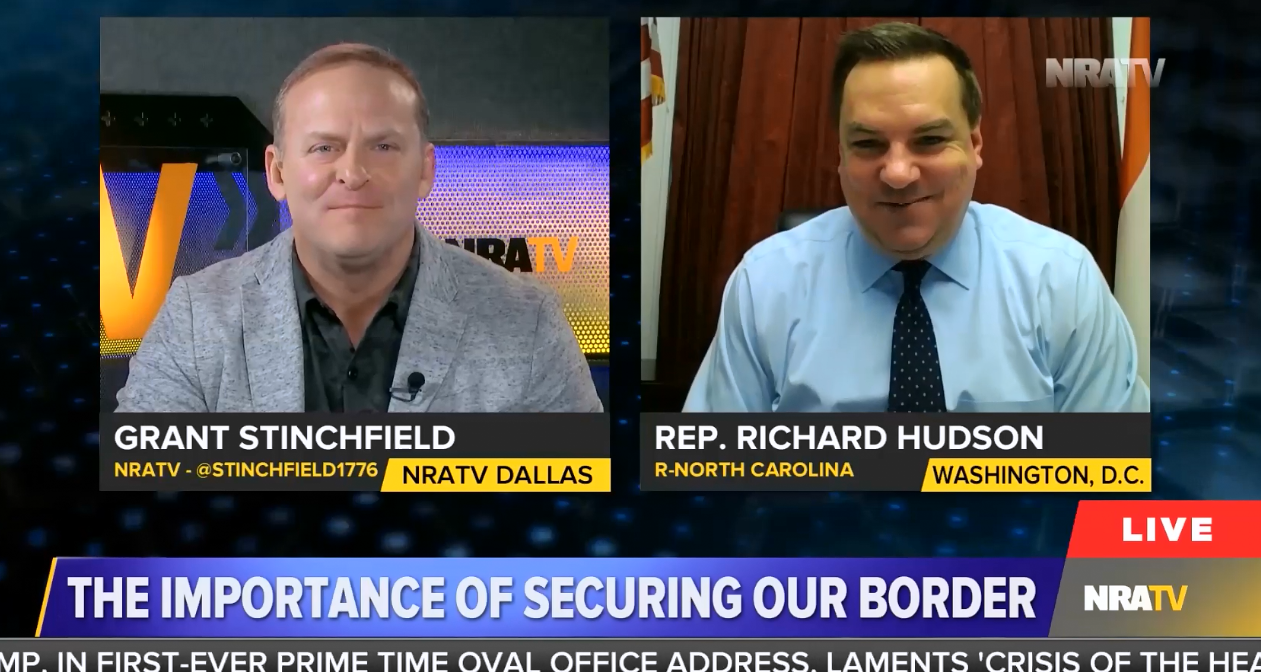 "photo image NRATV's Grant Stinchfield: We should loosen concealed carry laws around the country because of ""the issues we face…"