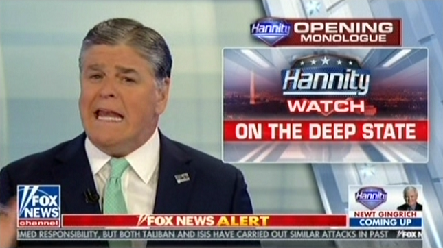 """Hannity says the FBI """"put aside all values"""" and """"plotted to destroy"""" Donald Trump"""