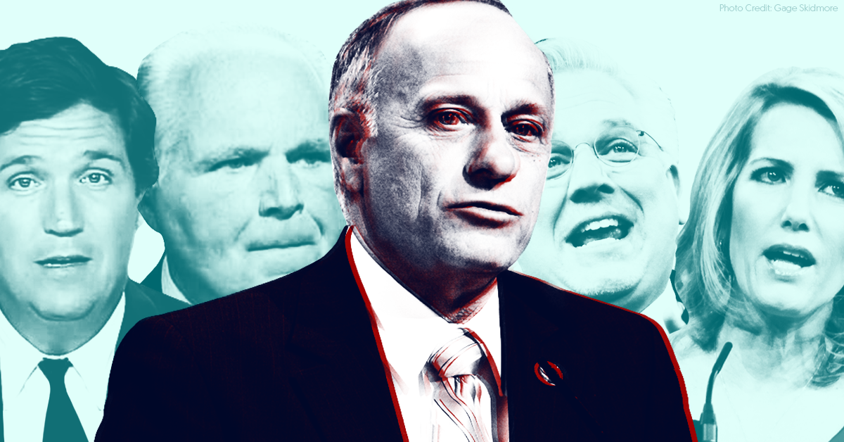 Steve King has been racist for years, and right-wing media have defended him every step of the way
