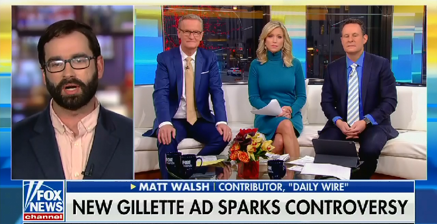 Fox & Friends guest on Gillette ad: