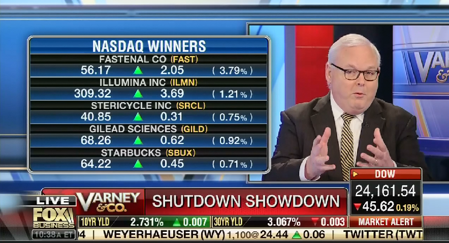 """On Fox Business, WSJ columnist praises Mitch McConnell for doing """"nothing"""" during government shutdown"""
