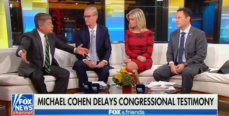 "Fox's Andrew Napolitano on Trump's apparent witness intimidation of Michael Cohen: ""I don't think that that is a threat"""