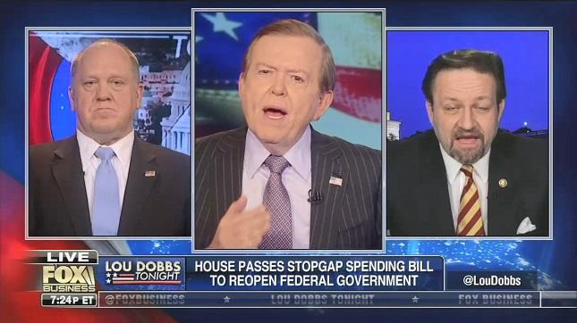 "After Sebastian Gorka calls end of shutdown a ""master stroke"" by Trump, Lou Dobbs says Pelosi ""whipped the president"""