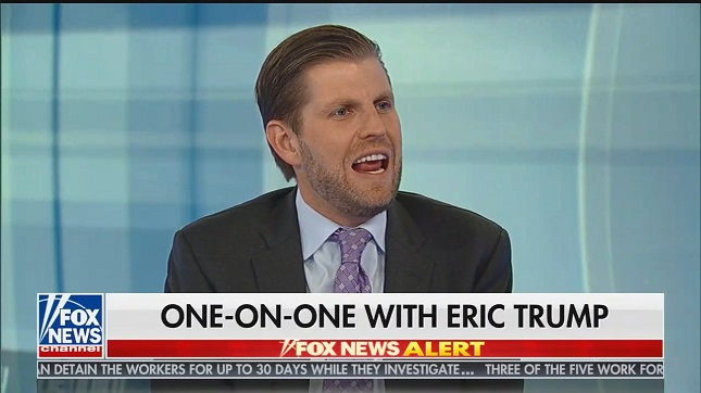 Eric Trump tells Hannity that he wants Donald Trump to declare a national emergency to pay for border wall