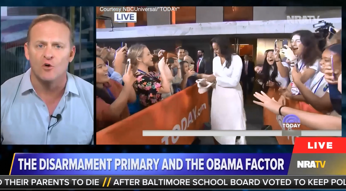 "NRATV: Former President Obama ""will use his wife Michelle"" to ""ultimately conquer you"""