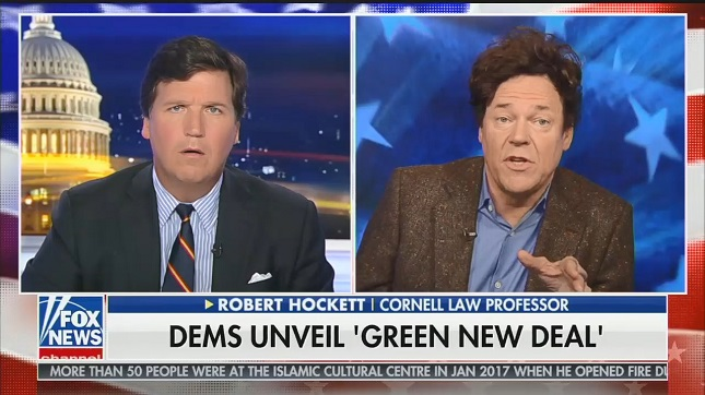 Watch what happens when Tucker Carlson steps outside the conservative media bubble and gets fact-checked on Green New Deal falsehoods
