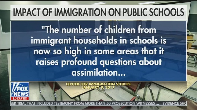 Laura Ingraham says immigrant schoolchildren have led to a