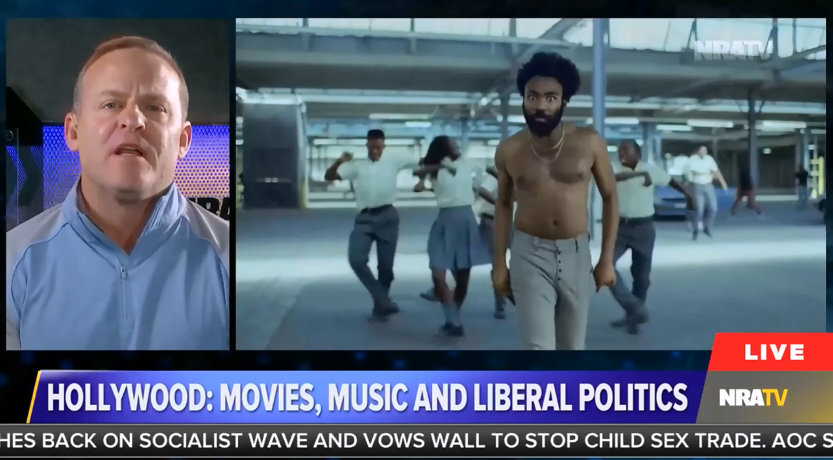 NRATV host has a meltdown over Childish Gambino's This is America winning a Grammy