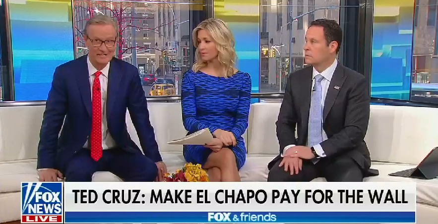 "Fox & Friends hosts: Funding border wall with seized drug money ""would be an indirect way to make Mexico pay for it"""