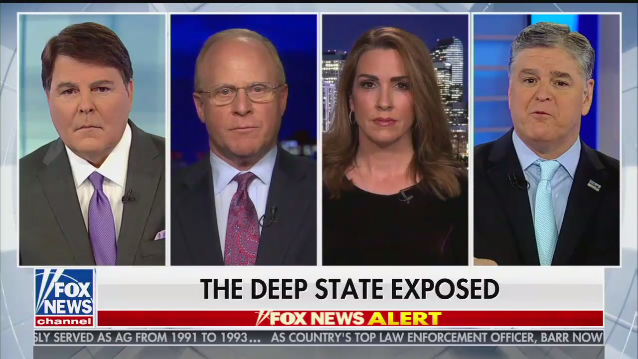 """Unhinged Hannity panel claims """"more than a dozen"""" Trump investigators committed crimes and attempted """"a coup d'etat"""""""