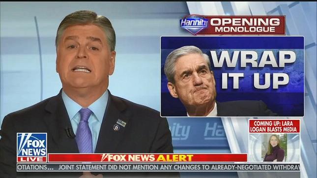 Sean Hannity justifies keeping Mueller report hidden from the public