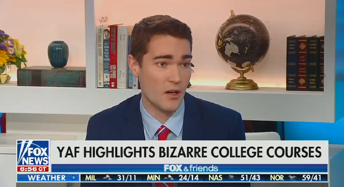 Fox & Friends guest complains college courses convey