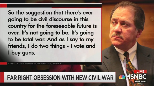 MSNBC's Chris Hayes documents conservative media's unhinged fantasy of a modern day civil war