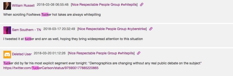 Leaked chat messages show members of white supremacist group
