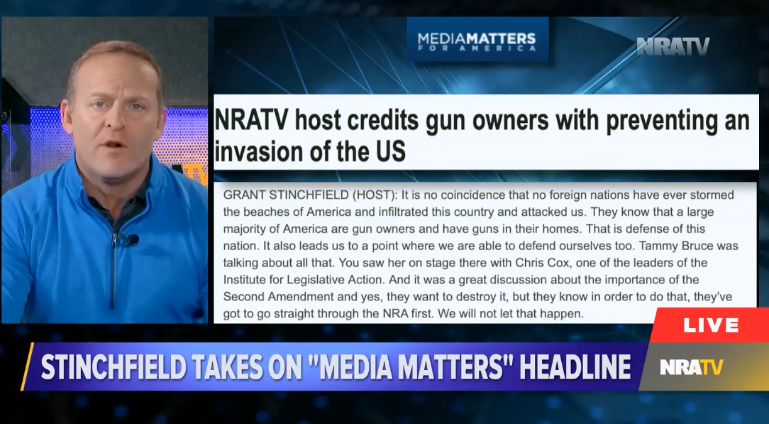 NRATV host insists gun owners have prevented the US from ever being invaded