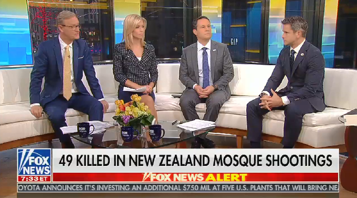 Fox's Brian Kilmeade brings up Ocasio-Cortez unprompted while discussing New Zealand shooting