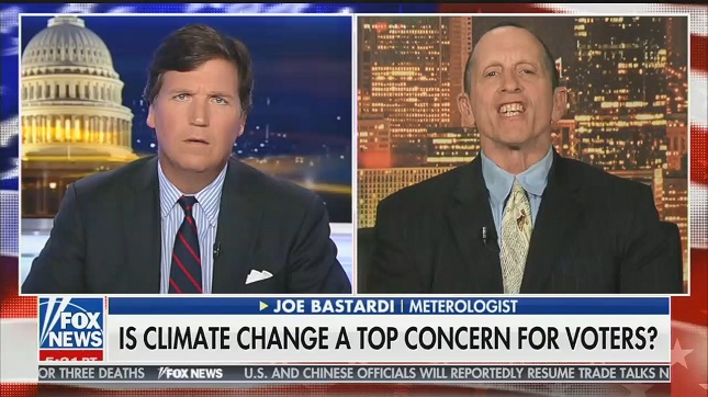 "Hosting a climate change denier, Tucker Carlson complains about ""relentless propaganda"" about climate change"