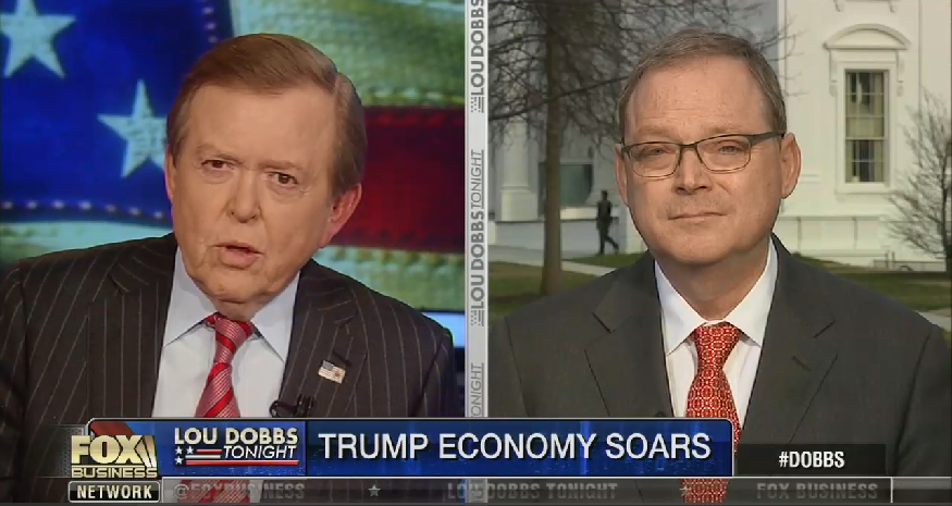 Top Trump economic adviser says that Trump interrupted a briefing to call Lou Dobbs