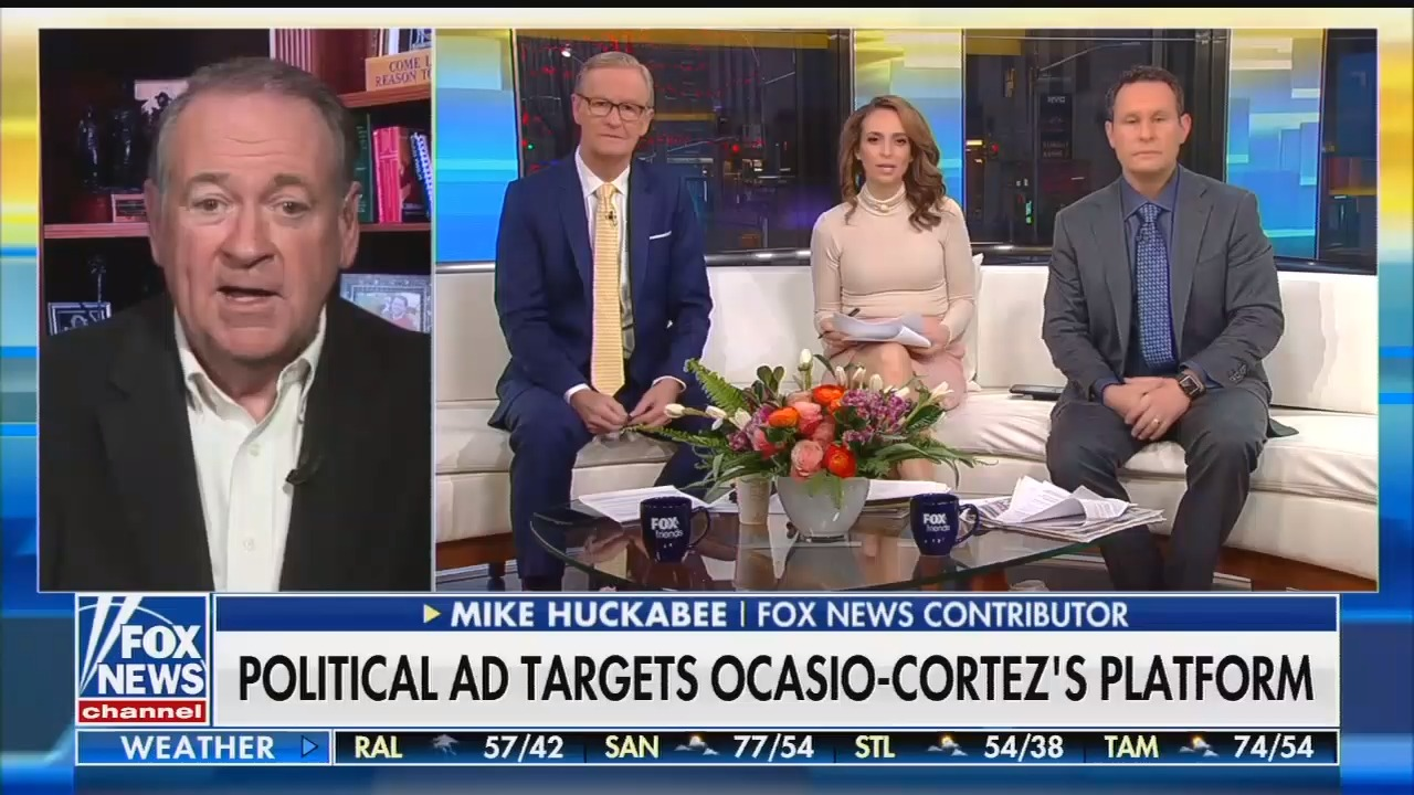 "On Fox & Friends, Mike Huckabee suggests Rep. Alexandria Ocasio-Cortez is ""the Manchurian Candidate"""