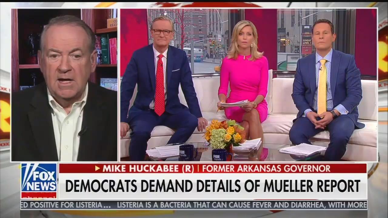 "Fox's Huckabee calls Trump/Russia investigation an ""attempted coup d'etat"" and demands Republicans investigate the Justice Department and FBI"