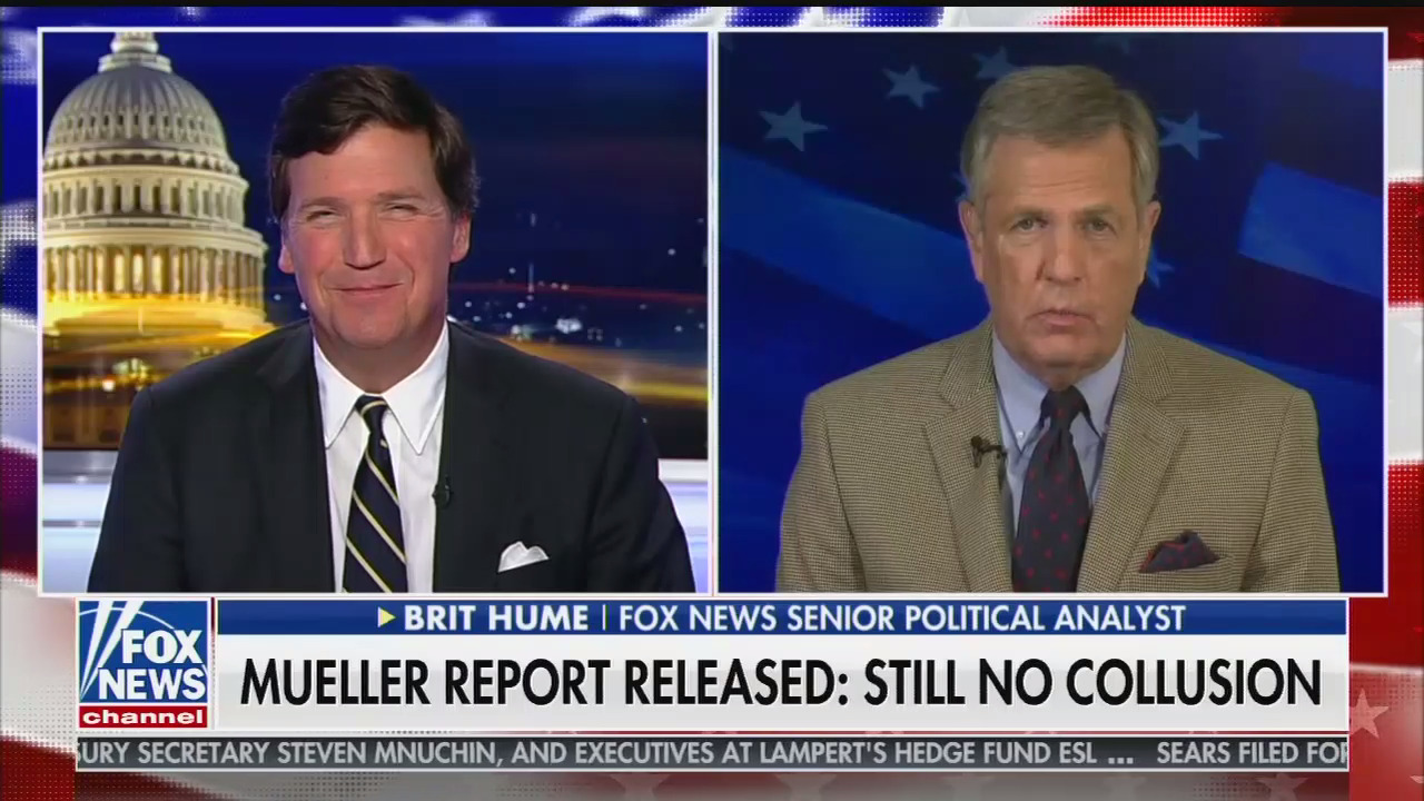photo image Brit Hume says media reporting on Mueller investigation was