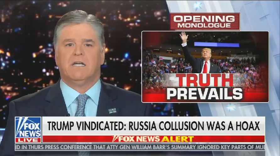 photo image Sean Hannity lies about Trump campaign and associates destroying evidence