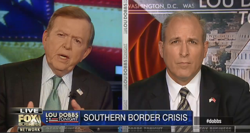 "Lou Dobbs: The southern border is a ""battlefield"" and the military needs more guns there for when they get ""a shot"""