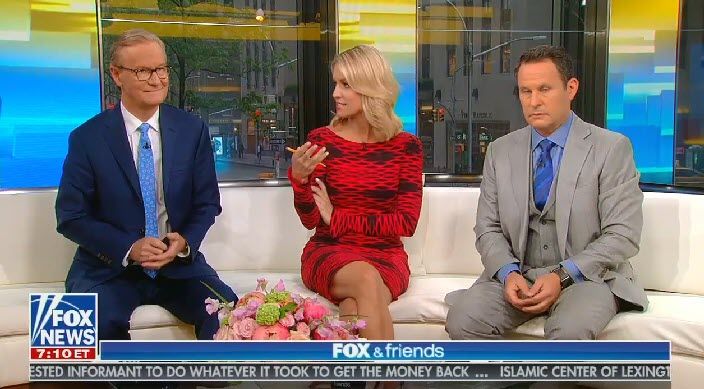 "Fox & Friends co-host says Trump's friendly relationships with North Korean, Russian, and Chinese dictators are ""his style"""