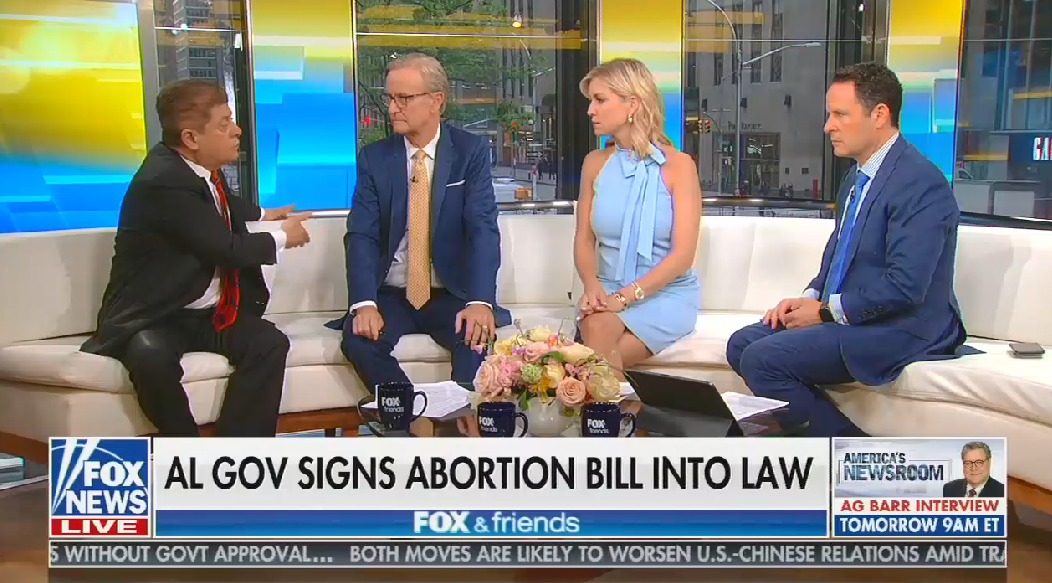 "Fox analyst inaccurately says if Roe were overturned, pregnant people could just go ""where infanticide is legal"""