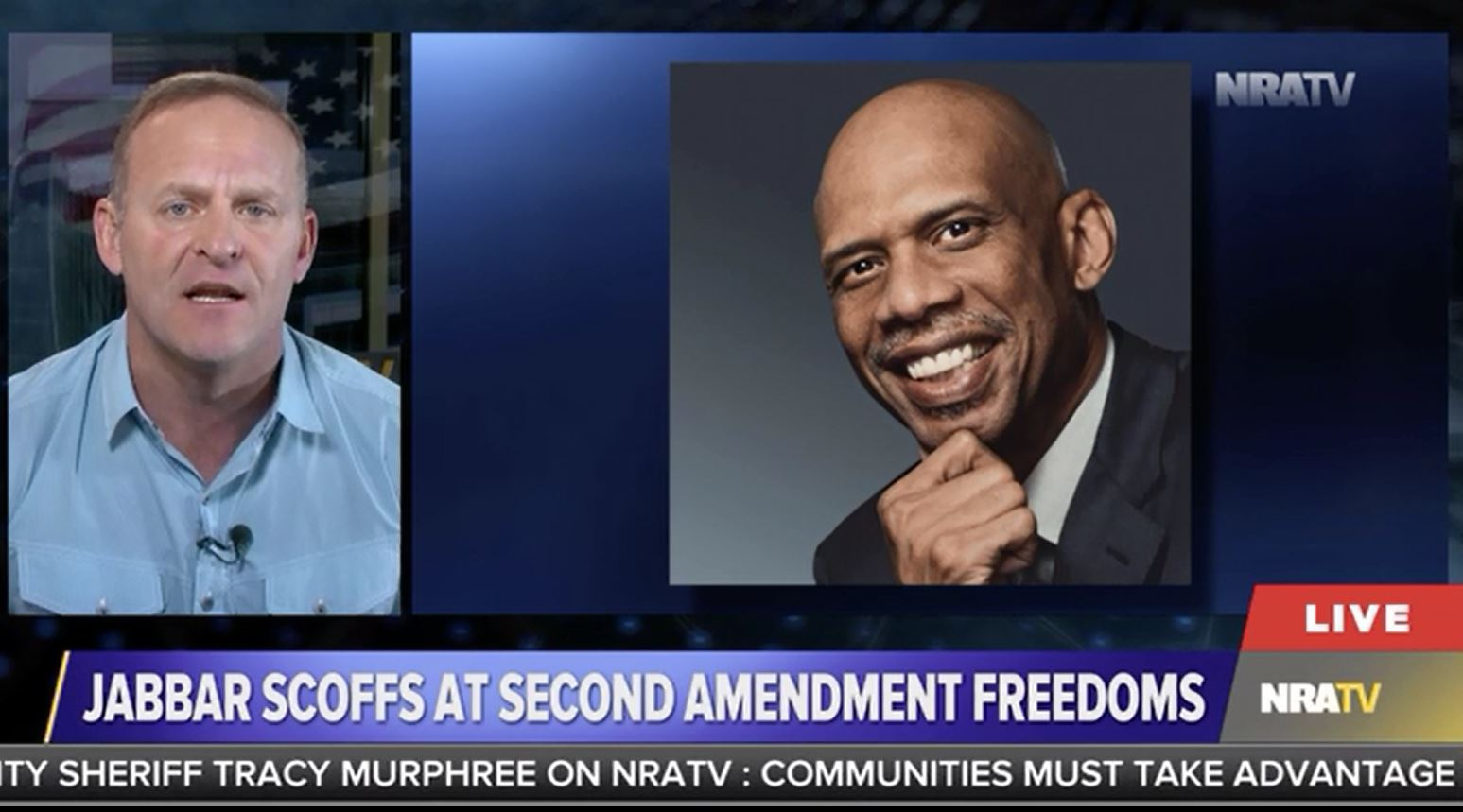 """NRATV host tells Kareem Abdul-Jabbar to """"stick to basketball"""" after he wrote a column about athletes and gun violence"""