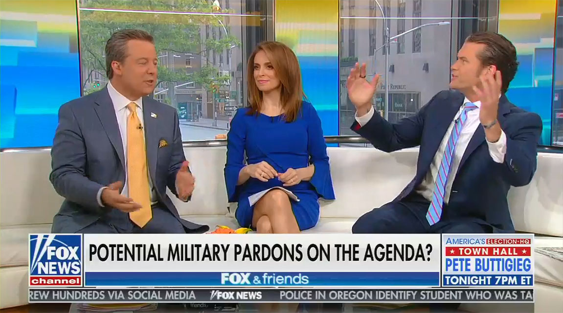 "Fox News host: Trump's move to pardon convicted and accused U.S. war criminals will unite the country out of ""a love of our military"""