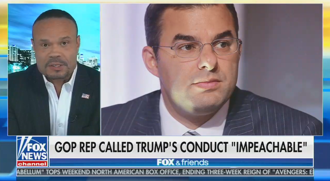 "After Rep. Justin Amash says Trump's conduct is impeachable, Fox contributor tells him to ""leave the Republican Party immediately"""