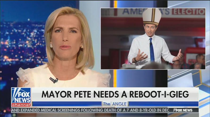 Laura Ingraham mocks Pete Buttigieg's Christian faith after his Fox News town hall