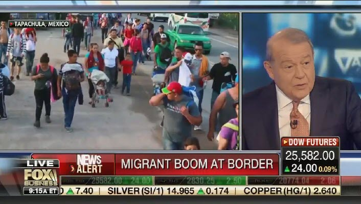 "Fox's Stuart Varney: ""I don't think it's too much to ask"" Mexico to do something about migrants at the border, ""and if you don't, well, we're going to hurt you"""