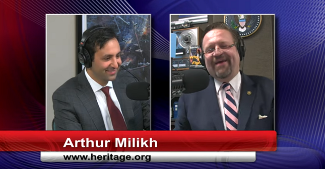 "Associate Director at Heritage Foundation tells Sebastian Gorka universities have become ""laboratories with madrassas attached to them"""
