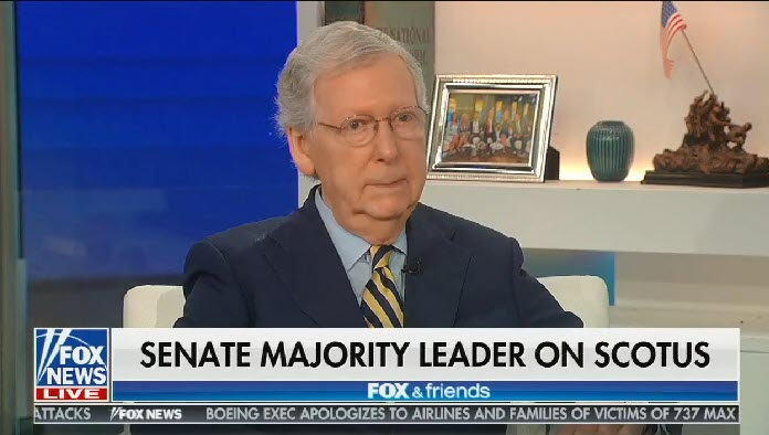Fox & Friends hosts allow Sen. Mitch McConnell to lie about why he blocked Merrick Garland's Supreme Court nomination