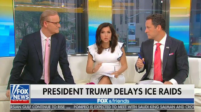 Fox & Friends host attacks criticism of immigrant detention centers after reports of neglectful and unsanitary conditions