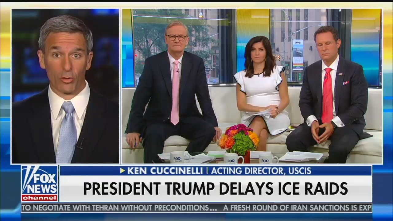 On Fox & Friends, Ken Cuccinelli says opposing Trump's immigration policies is akin to financing Mexican drug cartels