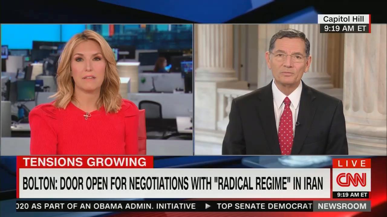 CNN anchor allows GOP senator to falsely claim Iran is pursuing a nuclear weapon